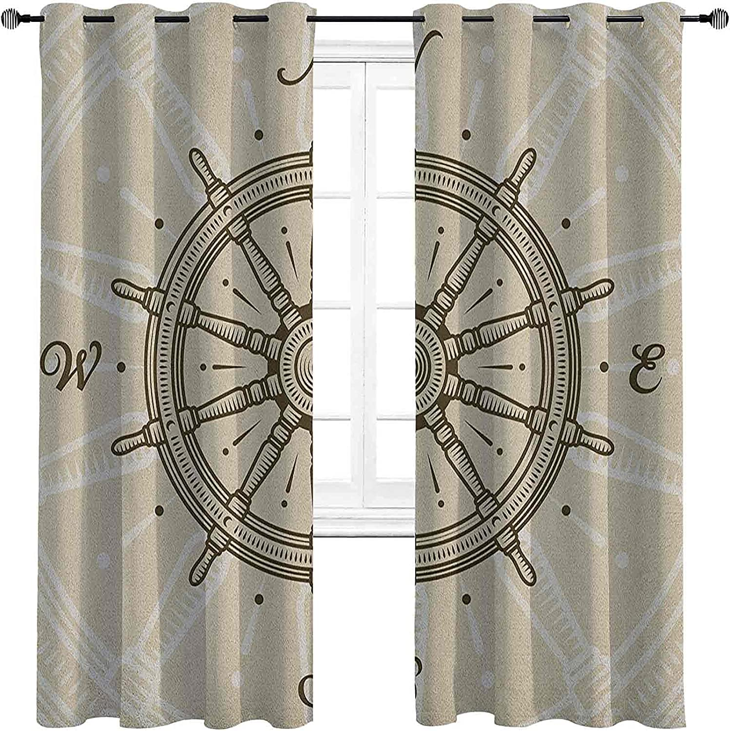 shop Ships Wheel Blackout Curtains - Limited time trial price Retro Gasket Wh Insulation Ship