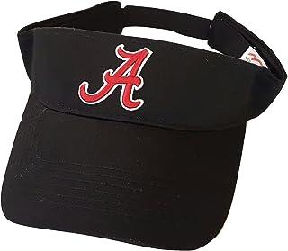 low cost 89f02 4bd06 Alabama Crimson Tide Adult Team Logo Black Visor