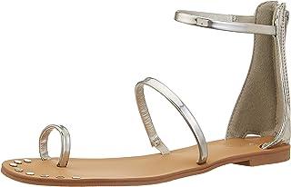 Qupid Women's Gold Fashion Sandals