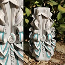 Decorative Gifts Carved Candles - Sea Shell Ivory Blue Sky Maple - House Decoration - EveCandles