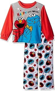 Sesame Street Elmo Cookie Monster Baby Toddler Boys 2-Piece Fleece Pajamas Set