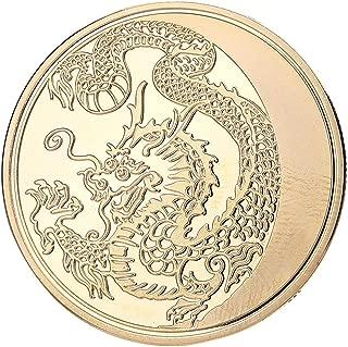 pi/èces de Monnaie comm/émoratives de Collection dart de Cadeau de Collection de pi/èce de Monnaie de Dragon Chinois Traditionnel AmaMary Pi/èce comm/émorative de Dragon Chinois