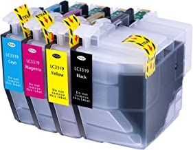 Hehua Compatible Brother LC3319 LC3317 LC-3319XL LC-3317XL Ink Cartridge High Yield Replacement for Brother MFC-J5330DW MFC-J6530DW MFC-J6930DW MFC-J6730DW Printers (Black, Cyan, Magenta, Yellow)