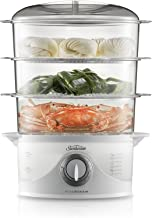 Sunbeam Vitasteam Deluxe 3 Tier Electric Food Steamer | 800W | 9L Capacity | 60 Minute Timer | Compact Nesting Storage | 6...
