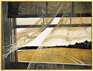 NOBGP Andrew Wyeth Wall Art Poster Prints Canvas Art Painting Colorful Prints Wall Decor Modern Canvas Stretched Home Bedroom Artwork Wind from The Sea,23''x35''