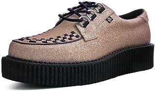 T.U.K. Shoes T2266 Unisex-Adult Creepers, Rose Glitter Anarchic Creeper