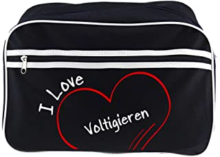 Bolso bandolera I Love abovedado retro colour negro