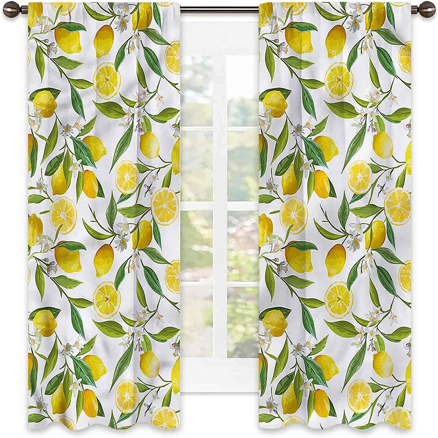 Nature Bedroom Rod Pocket Blackout Delicious Safety and trust Exotic Ga Same day shipping Curtains