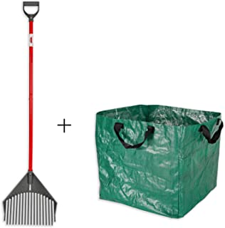 ROOT ASSASSIN RAKE Assassin Tools - Best for The Yard, Beach, Gravel, Gardening, Leafs, Sifting, Landscaping, and Hard to Reach Places. Perfect for Yard Work. Plus Free 40 Gal. RAKE Bag