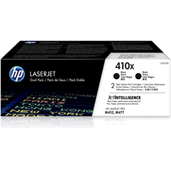 HP 410X   CF410XD   2 Toner Cartridges   Black   High Yield