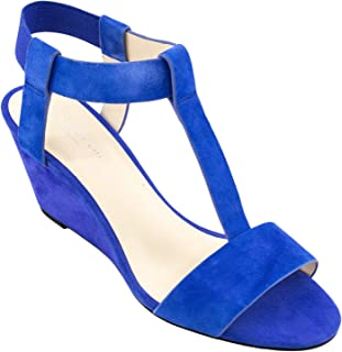 Kenneth Cole Women's Dana Wedge Sandal, Electric Blue, 7.5 M