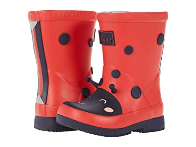 Joules Kids Welly Print (Toddler) (Red Lady Bird) Girl