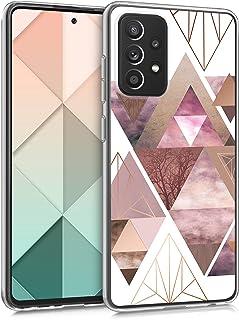 kwmobile telefoonhoesje compatibel met Samsung Galaxy A52 / A52 5G / A52s 5G - Hoesje voor smartphone in poederroze/roségo...