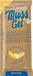 CAJA MUSS GEL sabor Banana, Control del Peso, Geles Energeticos, Cafeina 20 Unidades de50 g (Banana)
