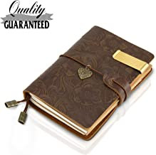Refillable Handmade Traveler's Notebook, Leather Travel Journal Notebook Vintage Notebook for Men & Women, Perfect for Writing, Gifts, Travelers, Small Size 5.3