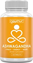 Organic Ashwagandha Root Powder Stress Relief Pills Natural Anti Anxiety Supplements for Adults - Mood Boost Support Corti...