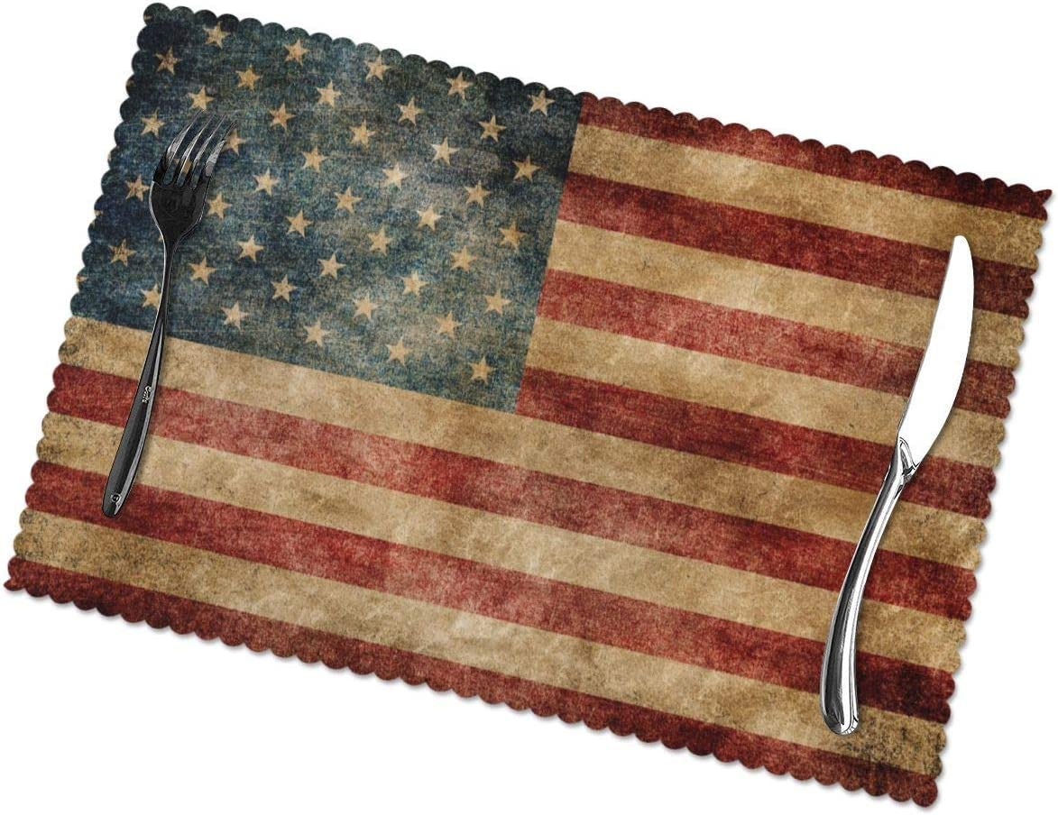 Vintage American Flag 4th of Tucson Mall Set July 6 2021 for Placemats