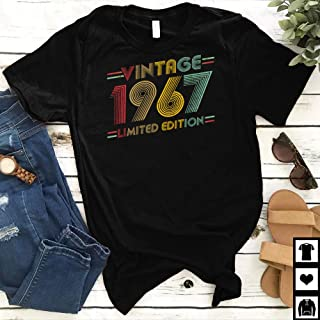 Vintage 1967 Limited Edition T-shirt - Born In 1967 Shirts - 52 Years Old Shirts - 52th Anniversary 1967 Gift Funny T-shirt
