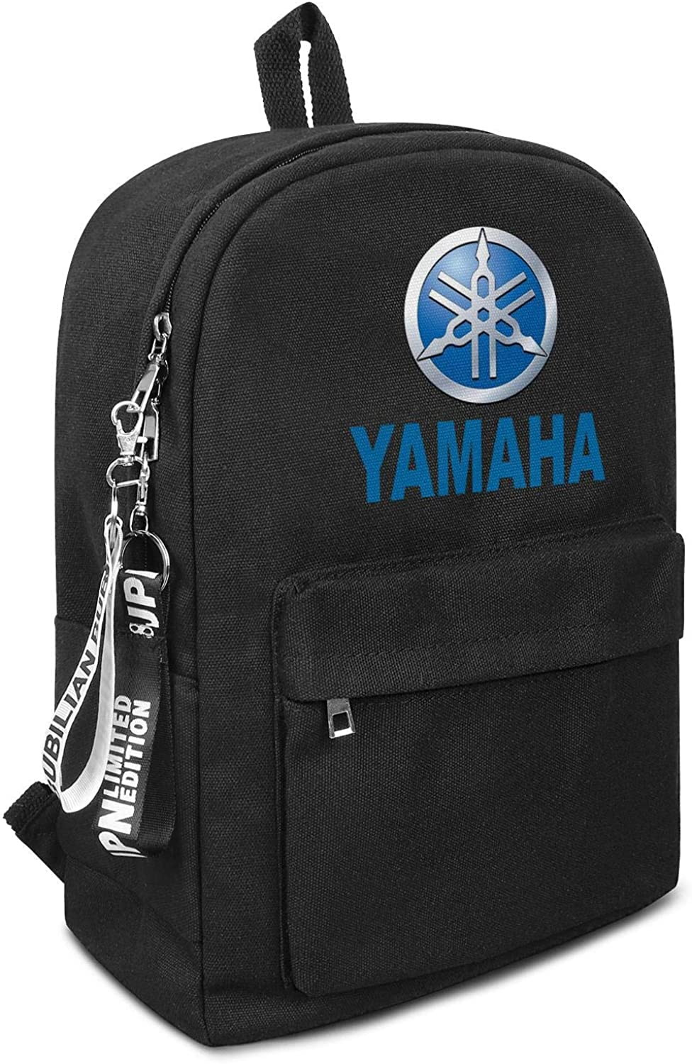Best Travel Laptop Canvas Backpack School College Black Bookbag with Pencil Case Motorcycle