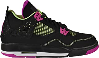 huge selection of 3a9ef fb33f Jordan Air 4 Retro 30th GG Big Kids Shoes Black Fuchsia Flash-Liquid Lime