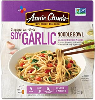 Annie Chun's Soy Garlic Noodle Bowl, Non-GMO, Vegan, 7.9 Ounce, Pack of 6