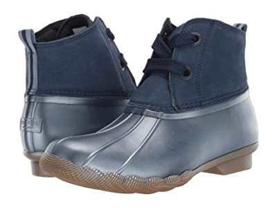 Sperry Saltwater 2-Eye Nubuck (Navy) Women