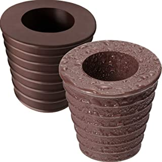 Pelopy 2 Pack Umbrella Cone Wedge for Patio Table Hole Opening or Parasol Base Stand 1.8 to 2.4 Inch, Umbrella Pole Diameter 1 1/2 Inch/ 38 mm (2 Pack, Dark Brown)