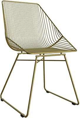 CosmoLiving by Cosmopolitan CosmoLiving Ellis Modern Accent, Gold Metal Chair