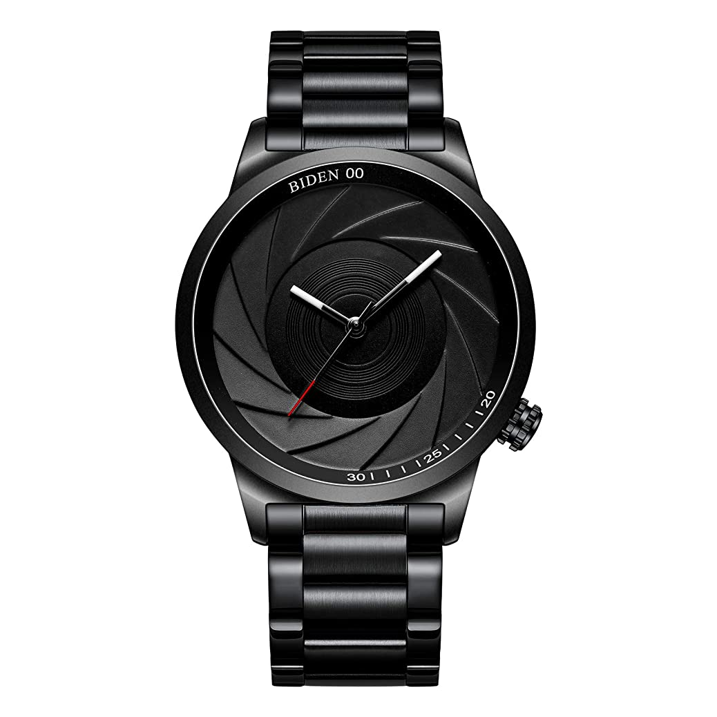 Watches Men's Watches Black Simple Fashion Business Stainless Steel Waterproof Quartz Analog Wrist Watch for Men dtbc6207304119