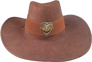 Brown McCree Cosplay Badge Cowboy Hat