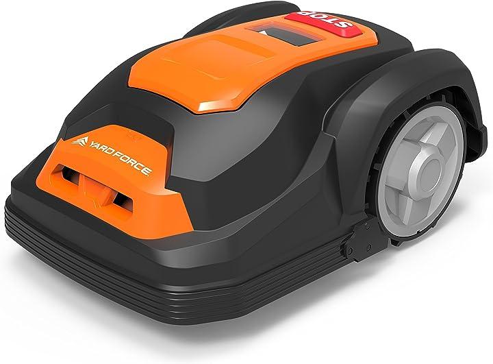 Tagliaerba robot- yardforce, sa500eco, robot tosaerba auto-alimentato, con protezione antifurto/batteria