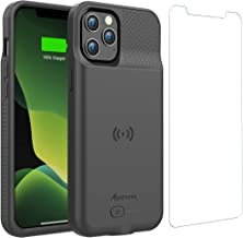 Battery Case for iPhone 12 Pro Max, 6000mAh Slim Portable Protective Extended Charger Cover with Wireless Charging Compati...