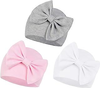 Zando Newborn Baby Girl Hats Soft Beanie Hat Cute for 0-6 Months Infant Toddler Hospital Hat Caps