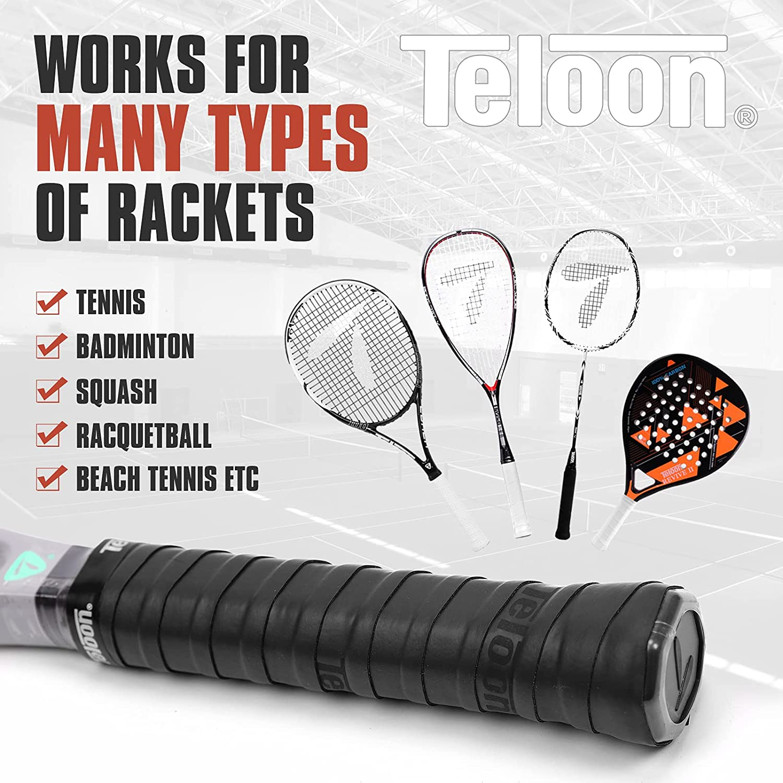 Tennis Racket Grip (Black-12 pcs) : Sports & Outdoors