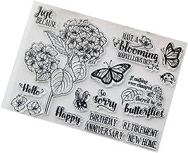 Horoshop Selo de silicone transparente para cartões, faça você mesmo, álbuns, fotos, álbuns, decoração - flor