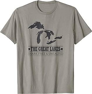 Vintage Michigan Shark Free & Unsalted Great Lakes Fun Shirt