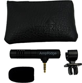 Ampridge MMSP MightyMic S+ Shotgun Cardioid Video Microphone for iPhone/iPad/Android with Headphone Monitor