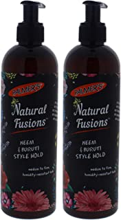 Natural Fusions Neem and Buruti Style Hold by Palmers for Unisex - 12 oz Gel - (Pack of 2)