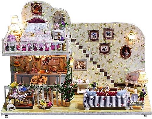 Evav Puppenhaus, DIY Kabine Modell Spielzeug Handgemachte H erne Lernspielzeug Kreative Geburtstagsgeschenke