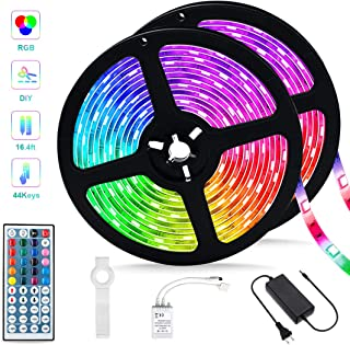 Led Strip Lights,32.8ft RGB SMD 5050 Color Changing Tape Light, IR Remote Controller Dimmable Flexible Rope Lights, Suitable for Christmas, Patio and Indoor DIY Mood Lighting Lovers