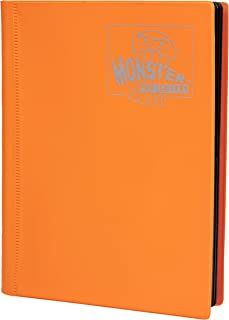 Monster Binder - 4 Pocket Trading Card Album - Matte Orange (Anti-theft Pockets Hold 160+ Yugioh, Pokemon, Magic the Gathe...
