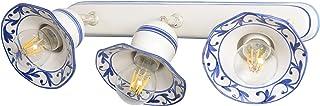 VANNI LAMPADARI - Lampada Parete art.002/414 e soffitto orientabile tipo spot a n.3 luci In Ceramica Decorata A Mano Dispo...