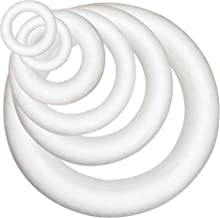 6 Counts Craft Foam Wreath Polystyrene Foam Rings for Home Wedding Christmas Decoration DIY Arts, Crafts, Floral Projects,...