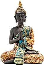 Flameer Buddha Statue, Buddhism Buddha Crafts Artwork Collection for Home Office Table Top Decoration