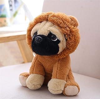 快適で丈夫な..おもちゃ F F 動物パグ犬ぬいぐるみ犬コスコスプレ恐竜ウサギ象ライオン羊ヒョウぬいぐるみ ( Color : Brown )