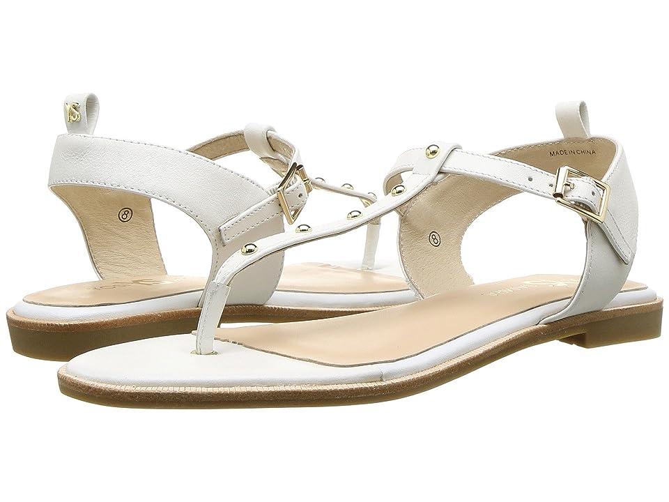 Yosi Samra Calliste (White/Gold Studs Nappa Leather) Women