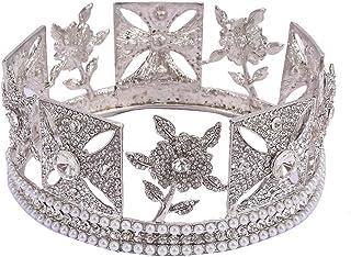 LUCKYYY Corona da Sposa, Corona di Diamanti ad Acqua di Fascia Alta, diadema Nuziale.