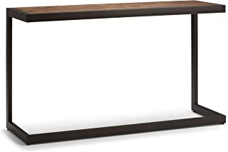 Simpli Home AXCERN-03 Erina Solid Acacia Wood and Metal 52 inch Wide Modern Industrial Console Sofa Table in Rustic Natural Aged Brown