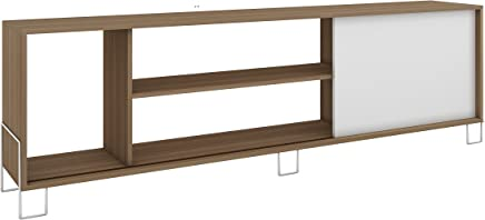 BRV Moveis TV Table With Two Shelves And One Cabinet for 50 inch TV - Brown (H 56 cm x W 180 cm x D 40 cm)