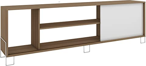 BRV Móveis Wood TV Stand, BR 33-47, Oak with White, H47 x W184 x D9.5 cm, Require Assembly